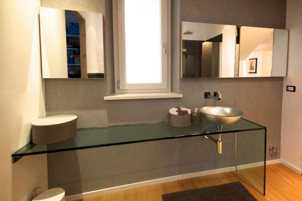 bancada de vidro temperado banheiro