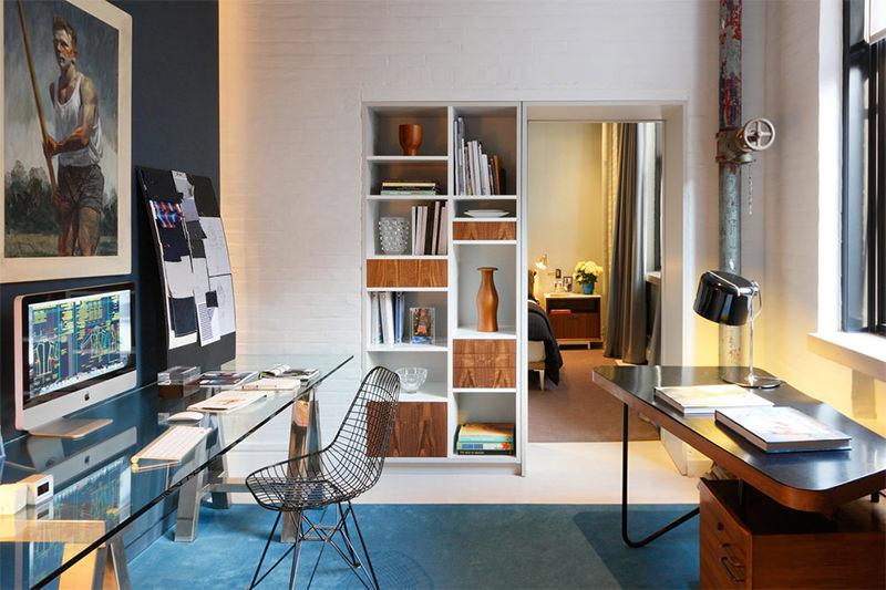 bancada vidro home office
