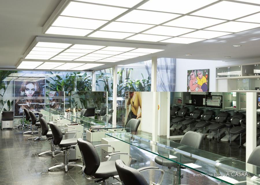 bancada vidro salão beleza